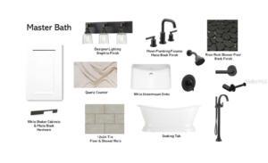 Lot 5 Master Bath Selections